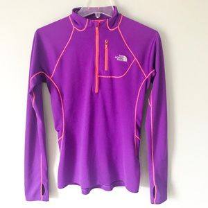The North Face Purple Thumb Hole Pullover